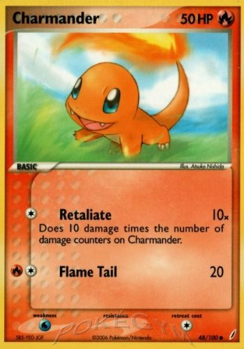 Pokemon - Charmander (48) - EX Crystal Guardians