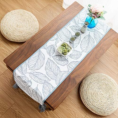 Mesa corredor Camino de mesa de algodón puro hecho a mano Mesa de comedor Mantel individual de aislamiento Borlas de rejilla blanco y negro Mantel de tira larga Gabinete de zapatos Gabinete de TV Cami