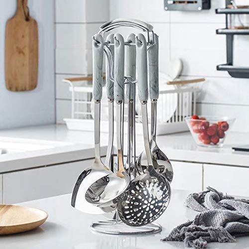 TIANYOU Hornear Temperatura Alta Temperatura Spoon Spatula Colador Cerámica Manija Cocina Utensilios La seguridad