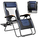 Portal Patio Lounge Chair, Mesh Back Zero Gravity Chair Oversized with Lumbar...