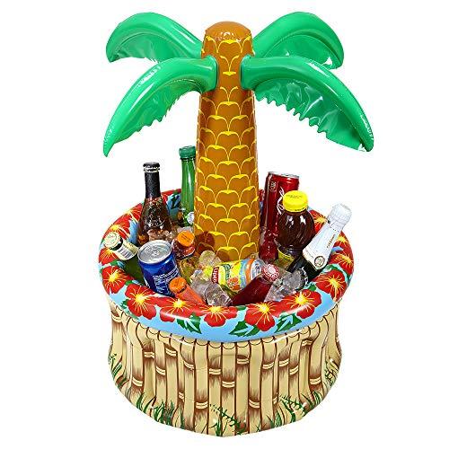 Widmann 04865 - Aufblasbare Palme mit Getränkekühler, zum Befüllen mit Eis und Wasser, Höhe circa 62 cm, Durchmesser circa 57 cm, Beachparty, Mottoparty