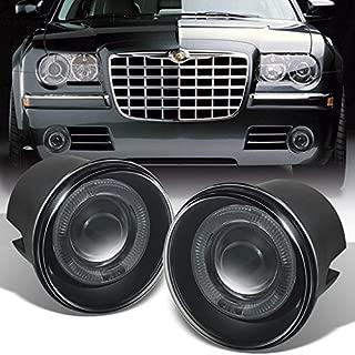For Chrysler 300C   Dodge Charger SRT-8   Caliber SRT-4 LED Halo Ring Smoked Fog Light Assembly w/Switch,Wiring + Relay