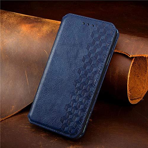 Funda de Cuero para Samsung Galaxy A51 A71 A31 AF 41 A42 A11 M51 M21 M31 A81 A91 A10 A20 A30 A70S Flip Wallet Funda magnética para teléfono, Azul, para Galaxy A21 EU