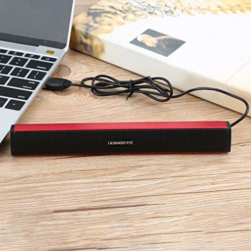 Altavoz USB portátil, minibarra de sonido externa alimentada por USB, para portátil, computadora o soportes en altavoces de sobremesa y caja de sonido de música