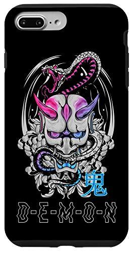 iPhone 7 Plus/8 Plus Japanese Oni Mask Demon Ogre Snake - Aesthetic Japan Samurai Case
