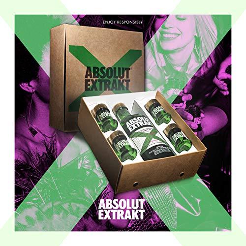 ABSOLUT EXTRAKT – Schwedischer Vodka – Edler Kräuterschnaps für unvergessliche Shot Erlebnisse – 1 x 0,7L in Geschenkverpackung inkl. 4 Shotgläser