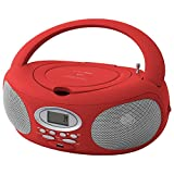 HANNLOMAX HX-321CD2 Portable CD/MP3 Boombox, AM/FM Radio, Bluetooth, USB Port for MP3 Playback