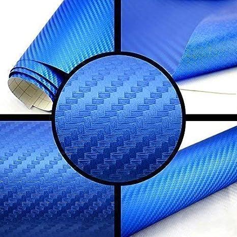 Tiptopcarbon 6 57 M 3d Carbon Folie Blau Blasenfrei 3m X 1 52m Mit Luftkanäle Autofolie Selbstklebend Küche Haushalt