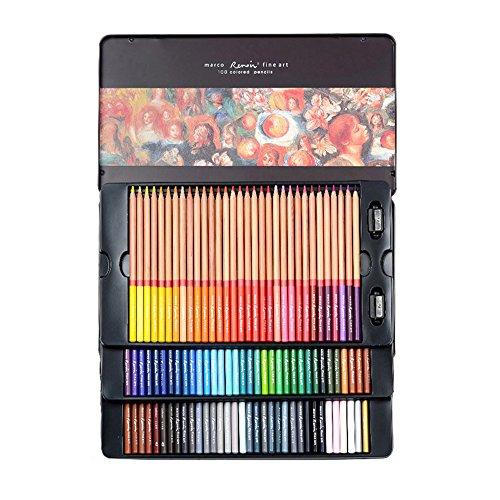 Marco art design Renoir 3100 series oily color pencil art-grade painting color lead (100 color)