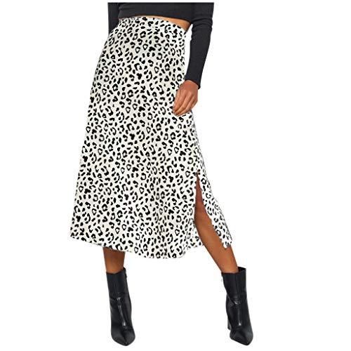 Moulante Jupe,ELECTRI Mode Femmes Léopard Imprimé Chic Casual Jupe Haute Taille Sexy Crayon Moulante Hanche Mini Jupe Cadeau Saint Valentin