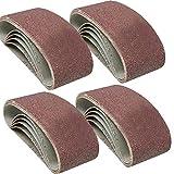 A <span class='highlight'><span class='highlight'>TL</span></span> 20 x Sanding Belts 75mm x 533mm Mixed Grade 40 60 80 120 Grit Sander