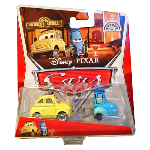 Disney Pixar Cars Luigi & Guido with Shaker and Glasses (Wheel Well Motel, #9/#10 of 11) - Voiture Miniature Echelle 1:55