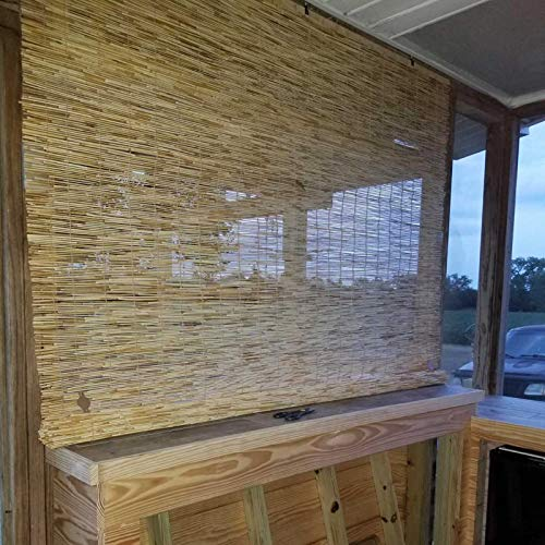 YANYAN Retro Cortina De Caña Exterior Persiana Enrollable De Bambú Persianas De Caña Naturales Tejidas A Mano Protección De Privacidad,Decoración De Habitación/52 Tamaños