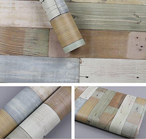 GLOW4U Autocollant en vinyle grain de bois pour armoires de cuisine 60 cm x 2 m
