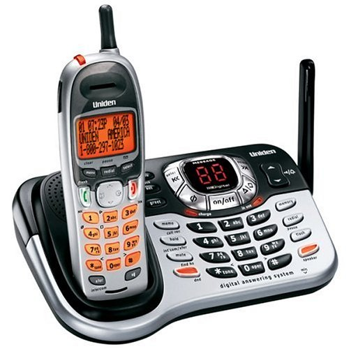 Uniden DCT7585 Expandable Cordless System with Digital Answering System, Dual Keypad, and Call Waiting/Caller ID