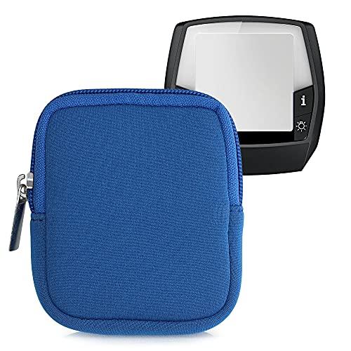 kwmobile Tasche kompatibel mit Bosch Intuvia - E-Bike Computer Neopren Hülle - Schutztasche Blau