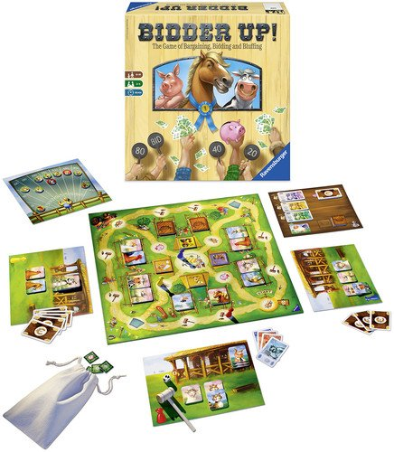Ravensburger Bidder Up! The Game of Bargaining, Bidding & Bluffing Family Game