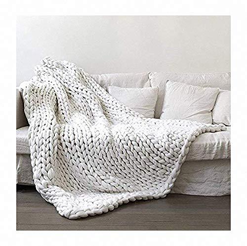 Merino wol garen armbreien super grote handgeweven deken grof gebreide wollen deken als sprei voor huisdieren bed stoel bank