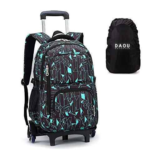 Regalos de regreso a la escuela 2 en 1 Trolley Bag Mochila con ruedas Boy Sport Bag Mochila escolar con ruedas Equipaje de cabina Viaje de ocio Niño Niño College Lysee 6 ruedas 49 * 32 * 18cm