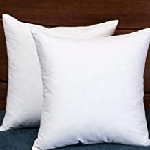 StarryBedding Down and Feather Square 18x18 Inch Throw Pillow Insert, Set of 2, 100% Cotton