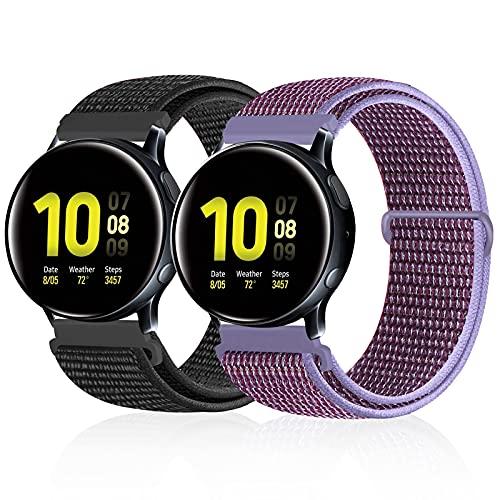Runostrich Correa de nailon de liberación rápida, 20 mm, compatible con Galaxy Watch 3 41 mm/Samsung Galaxy Watch 42 mm/Active2 44 mm 40 mm/Gear Sport Reemplazo de deporte para hombre y mujer,