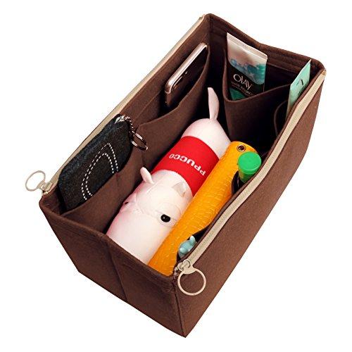 [Past op verschillende tassen, L.V Her.mes Long.champ Go.yard] Vilt Tote Organizer (met dubbele ritszakken), portemonnee invoer, cosmetische make-up luier handtas, Belongings Pocket