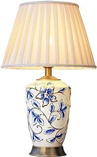 Lampe de Table en émail Chinois rétro en céramique Chambre à Coucher Lampe de Chevet en Lin Lampe de Bureau en Forme de Lampe