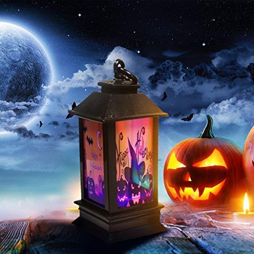 DGHJK Holiday Creative Gift Halloween Atmosphere Decorative Props Plastic Glowing Night Lighthouse