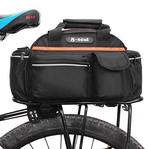 Lixada 15L Fahrrad Rücksitz Tasche Rack Koffer Korb Gepäcktasche Radfahren Gepäck Aufbewahrungskoffer Schulter Handtasche