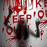 Kesote Halloween Keep out Cubierta para Pareds y Puertas Decoración para Fiesta de Halloween Películ...