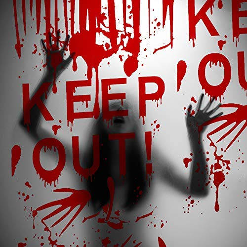 Kesote Halloween Keep out Cubierta para Pareds y Puertas Decoración para Fiesta de Halloween Película de PVC, 50 * 120cm
