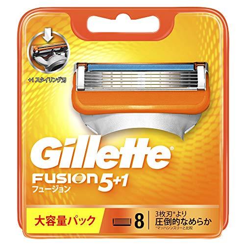 ジレット フュージョン5+1 マニュアル 髭剃り カミソリ 男性 替刃8個入