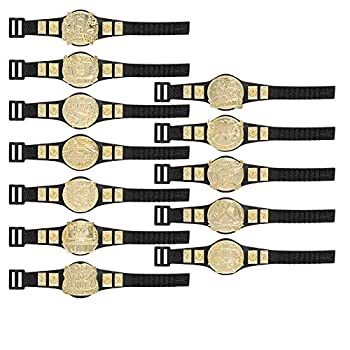 Set of All 12 Series 2 Action Figure Championship Belts for Wrestling Action Figures