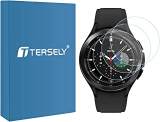 T Tersely (3 Pack) Screen Protector for Samsung Galaxy Watch 4 Classic 42MM, 9H Hardness Tempered Glass Screen Protector F...