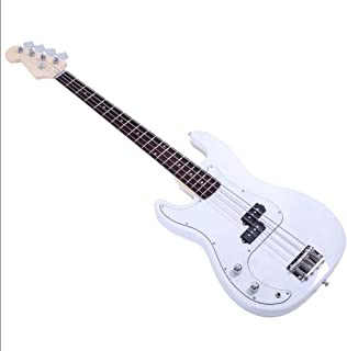 $146 Get Exquisite Burning Fire Style Electric Bass Guitar White