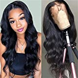 Foreverlove Body Wave Lace Front Wigs Human Hair Pre Plucked Brazilian Human Hair Wigs for Black Women 150% Density Remy Human Hair Wigs(16 Inch,Body wave)