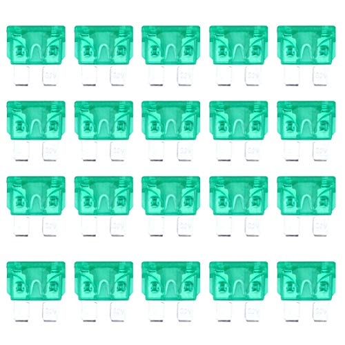 Preisvergleich Produktbild WanShiHengTong Auto GGR 100 PCS Auto Mini Blade Fuse,  DC 12V 20A (gelb) Ersatz (Color : Green)