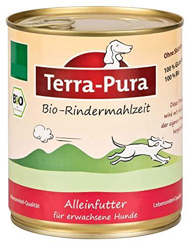 Terra Pura Bio Hundefutter Rindermahlzeit 800 g Glutenfrei, 6er Pack (6 x 800 g)
