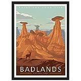Badlands National Park America Vintage Travel Poster Art Print Painting Home Decoration Gift
