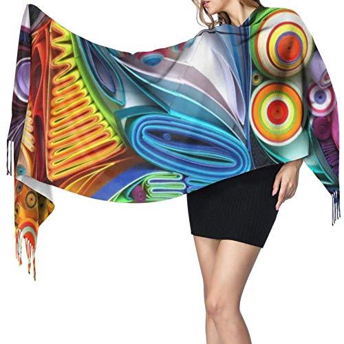 Quilling Kissen Schal Frauen Kaschmir Schals Schal Wrap Stylish Warm Soft Blanket Large