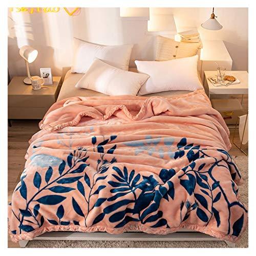 Couverture épaisse Seule Double Couche 2 kg Nap Ménage Draps Canapé Blanket 150 * 200cm Little (Color : Pink)