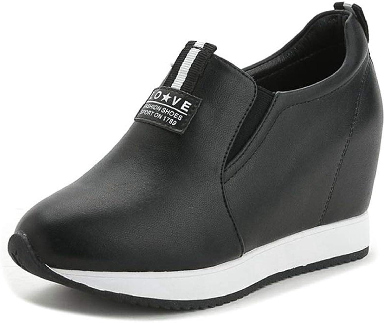 Btrada Woman's Fashion Wedges Sneakers Hidden Heels Loafers Ladies Height Increasing Casual Walking shoes