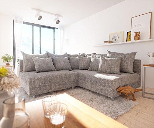 DELIFE Couch Clovis modular - Ecksofa, Sofa, Wohnlandschaft & Modulsofa (Hellgrau, Ecksofa Rechts)