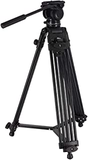 Video Tripod System, SH SHIHONG Professional Heavy Duty Aluminum Video Camcorder Tripod with Fluid Drag Head and Quick Release Plate,60