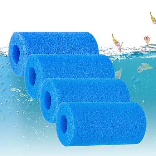 Pool Wiederverwendbar Pool Filter A 10*20cm,Filter Schaum Schwamm 4 Pcs,Filterschwamm,Schaum Pool Filter,Wiederverwendbare Filterkartuschen,Tank Aquarium Filter Schwamm,Swimming Pool Filter Sponge