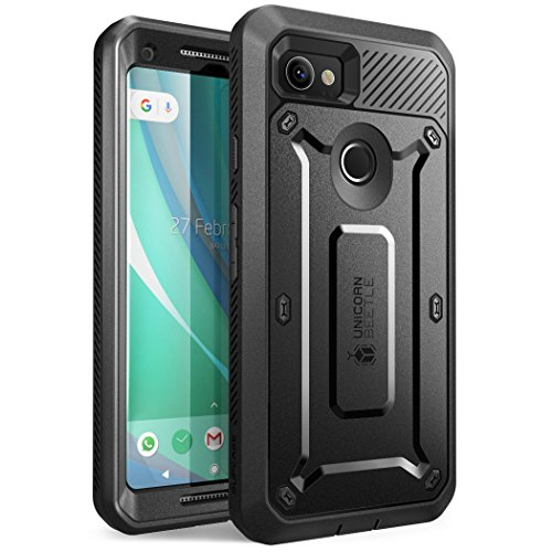 SUPCASE Unicorn Beetle PRO Series Phone Case for Google Pixel 2 XL, Full-Body Rugged Holster Case with Built-in Screen Protector for Google Pixel 2 XL 2017 Release (Black)