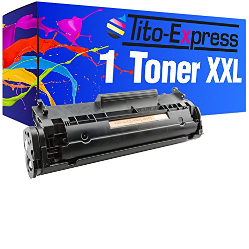 Tito-Express PlatinumSerie 1 Toner XXL kompatibel mit HP Q2612A 12A Laserjet 1010 1012 1015 1018 1020 1022-N 1022-NW 1028 3015-AIO 3020-AIO 3030-AIO 3050-Z 3052 3055 M1005-MFP M1319 M1319F