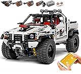 Conjunto de edificios de vehículos de placa de plata de Technic, Offroader Truck Construction Set 2013 PCS Bloques de construcción Coche Educativo Ladrillos de juguete Compatible con Técnica LEGO