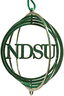 SWEN Products ND State NDSU Bison Tini Swirly Metal Wind Spinner