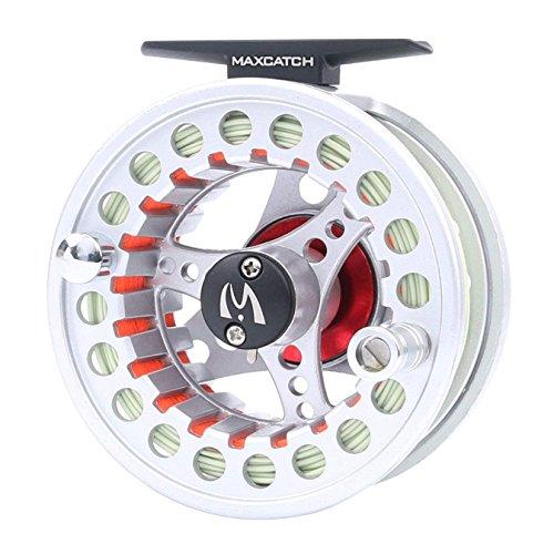 MAXIMUMCATCH ECO Fliegenrolle Druckguss Aluminum Fliegenfischen Rolle mit Schnur Backing und Vorfach in 3/4wt 5/6wt 7/8wt (ECO Rolle mit Schnur, 3/4wt)